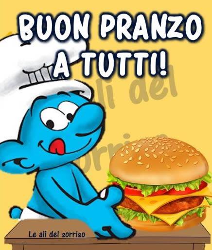 """Buon Pranzo a tutti !"" - i Puffi"