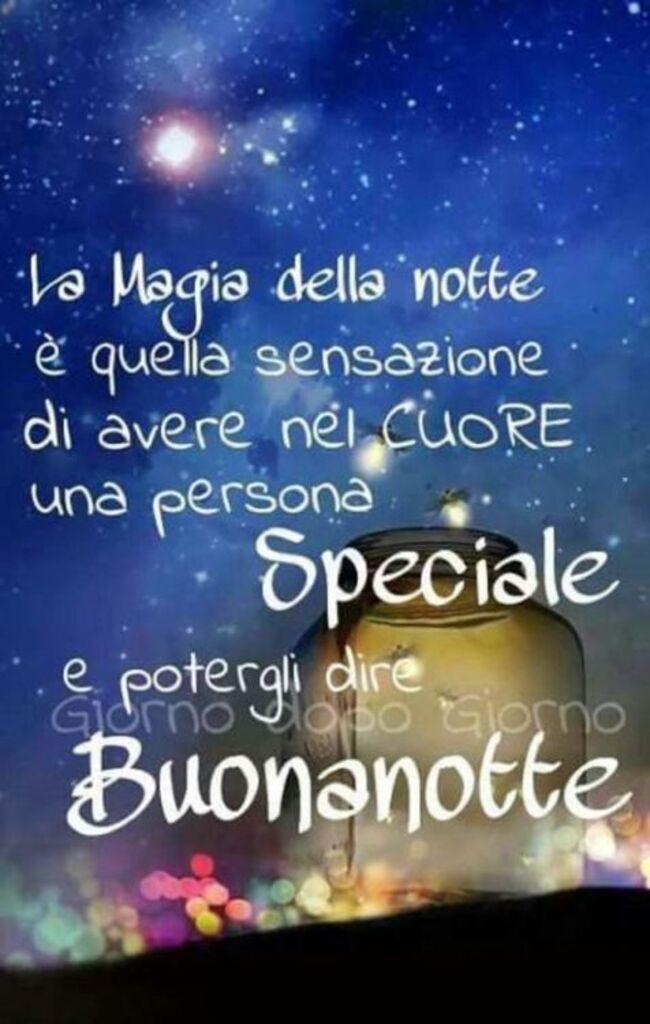 """""""La magia della notte è quella sensazione di avere nel cuore una persona Speciale e potergli dire Buonanotte"""""""