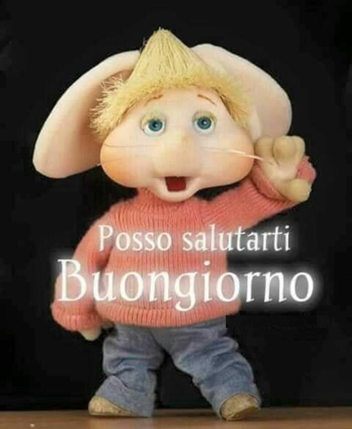"""""""Posso salutarti? Buongiorno"""" - Topo Gigio"""