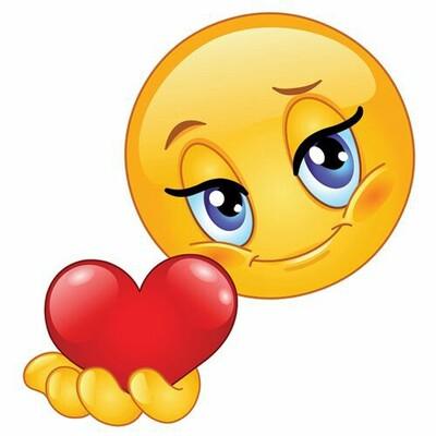 """""""Emoticon che offre un cuore"""""""