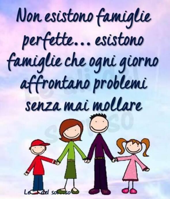 """""""Non esistono famiglie perfette... esistono famiglie che ogni giorno affrontano problemi senza mai mollare."""""""