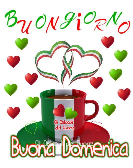 Buona Giornata e Buona Domenica con i colori italiani