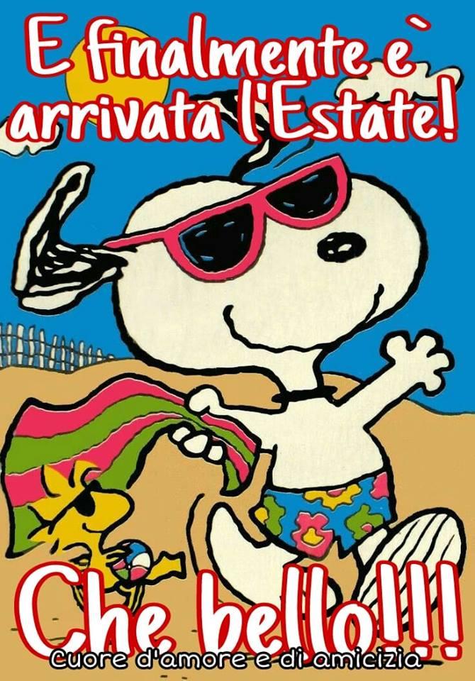 """""""E finalmente è arrivata l'Estate !!! Che bello !!!"""" - Snoopy"""
