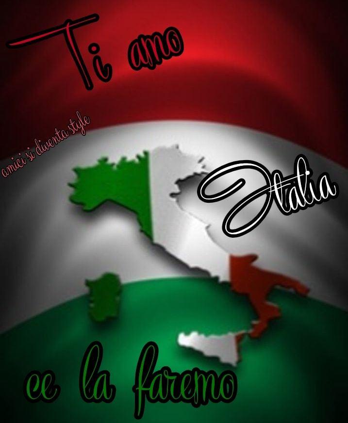 """""""Ti Amo Italia, ce la faremo!"""" - immagini notte"""