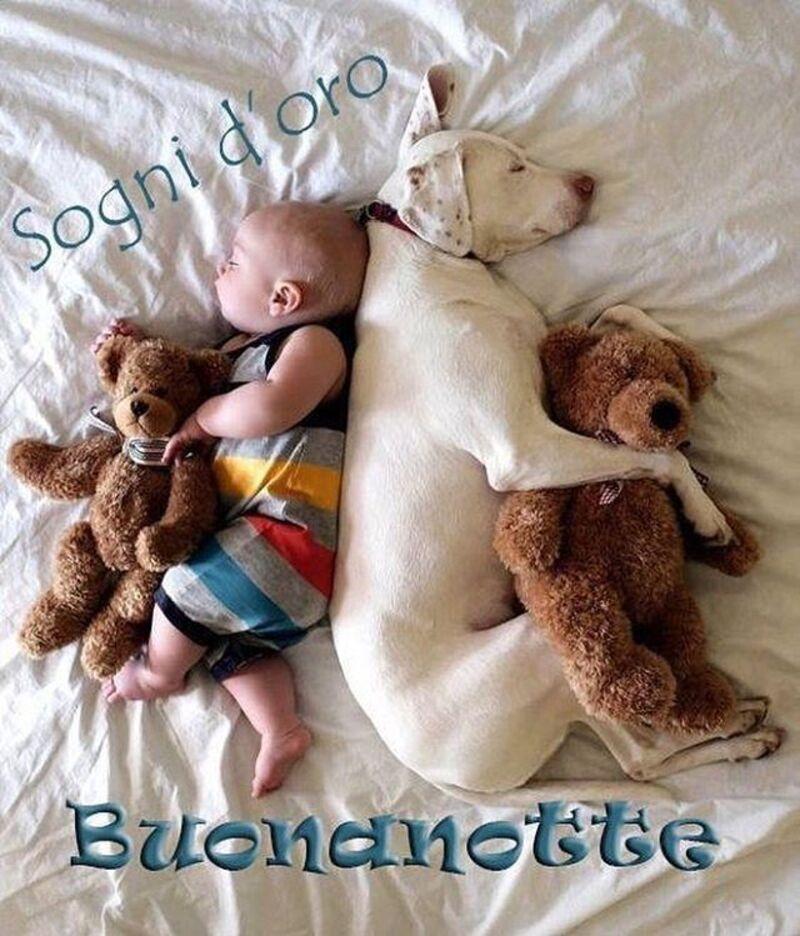 Immagini della Buonanotte con i bimbi