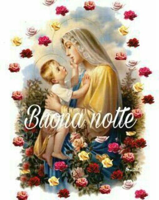 """""""Buonanotte con la Madonna"""" - immagini religiose"""