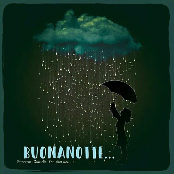 """Immagini gratis da condividere - """"Buonanotte piove"""""""