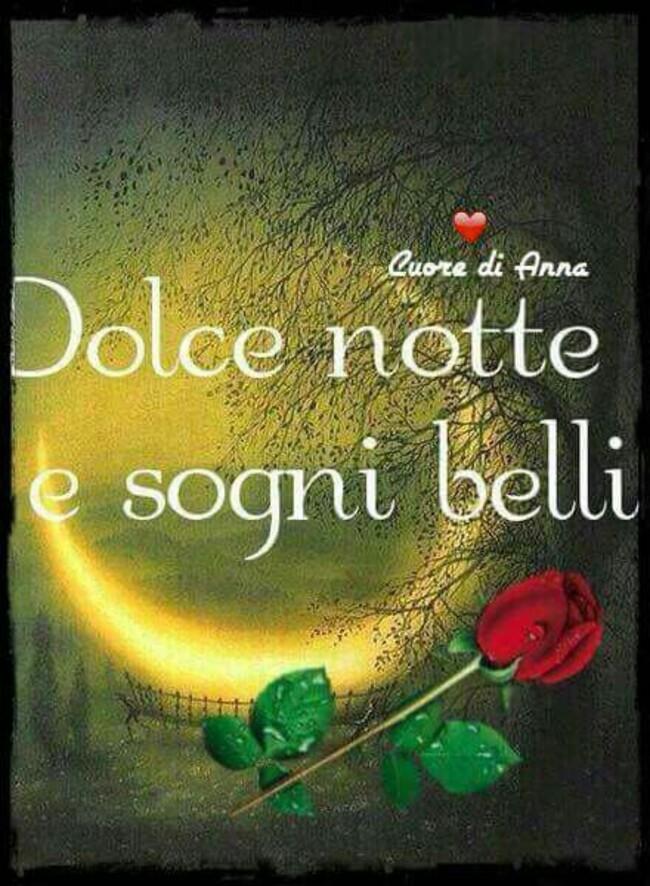 """Buonanotte immagini romantiche - """"Dolce Notte e sogni belli"""""""
