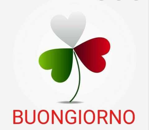 Buongiorno con i colori della bandiera italiana