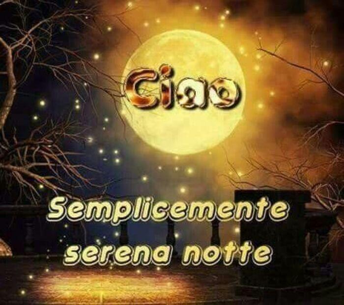 """""""Ciao Serena Notte"""" - immagini da mandare su Facebook"""