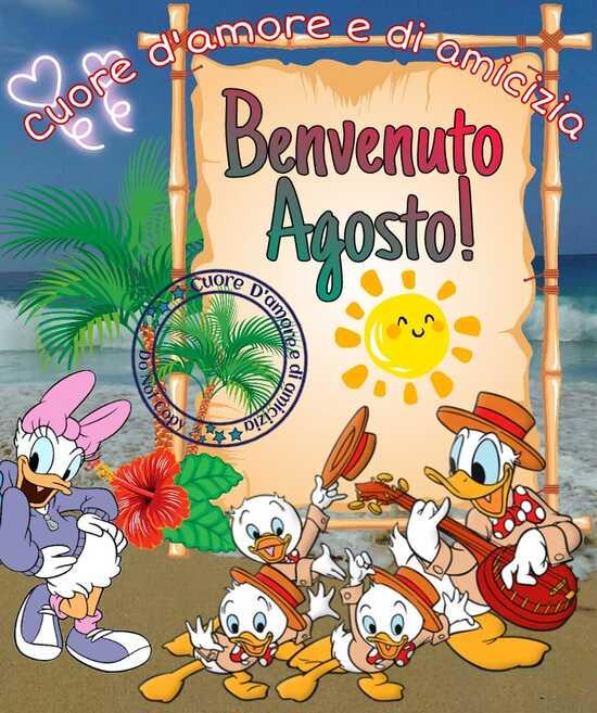 """""""Benvenuto Agosto!"""" - con Paperina Paperino e Qui Quo Qua"""