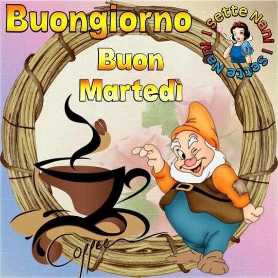 """""""Buongiorno e Buon Martedì, caffè?"""" - immagini Walt Disney"""
