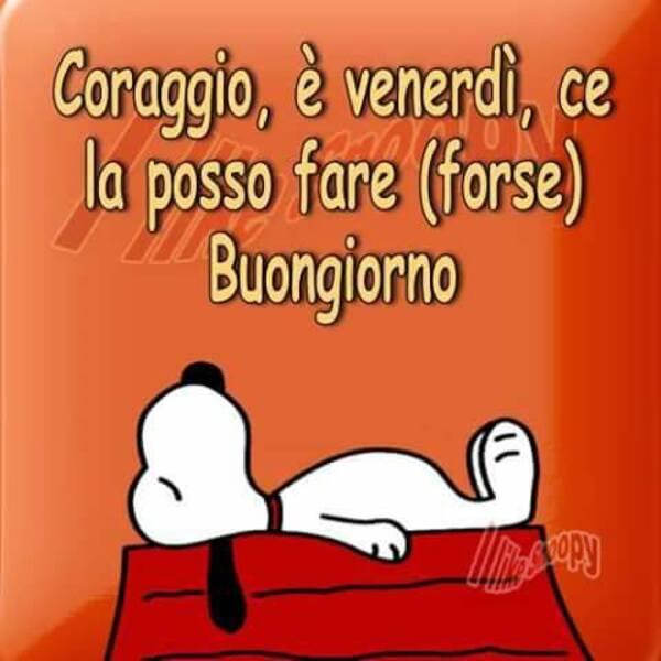 Buon Venerdì Snoopy