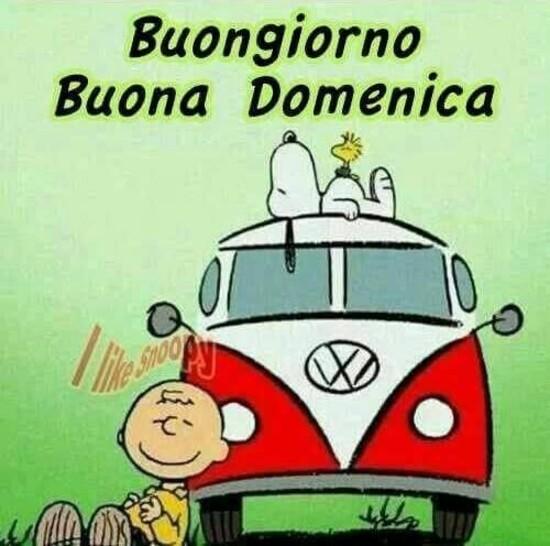 """""""Buongiorno Buona Domenica"""" - con Snoopy e Charlie Brown"""