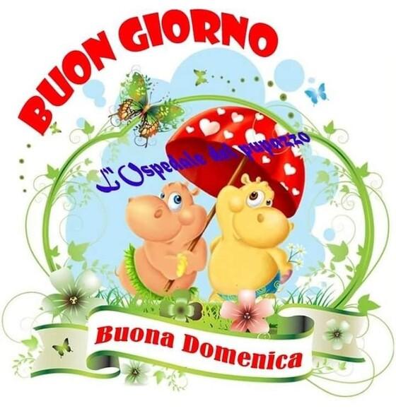 """""""Buon Giorno Serena Domenica"""" - con l'ombrello"""