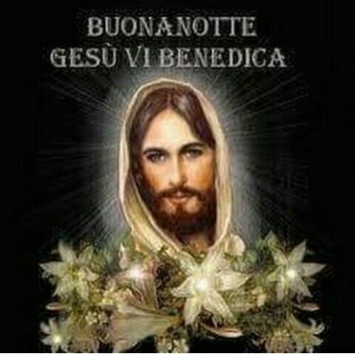 """Immagini religiose - """"Buona Notte Gesù vi benedica"""""""