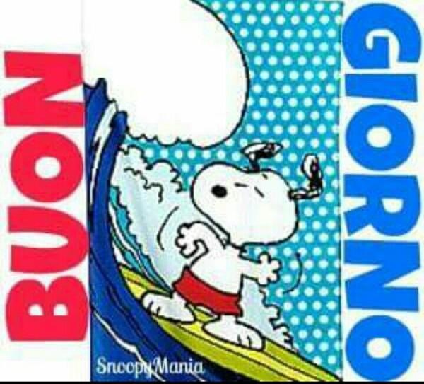 Buongiorno estivo da Snoopy surfista