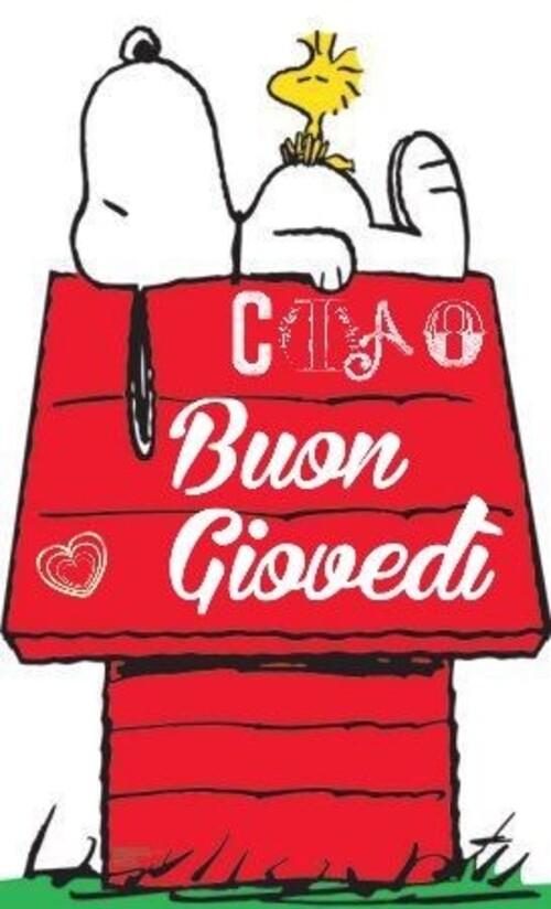 """""""Ciao Buon Giovedì"""" - vignette con Snoopy"""