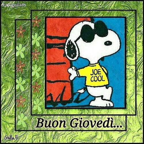 Sereno Giovedì con Snoopy - belle immagini