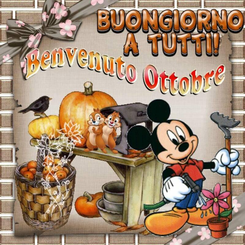 """""""Buongiorno a tutti. Benvenuto Ottobre!"""" - da Topolino"""