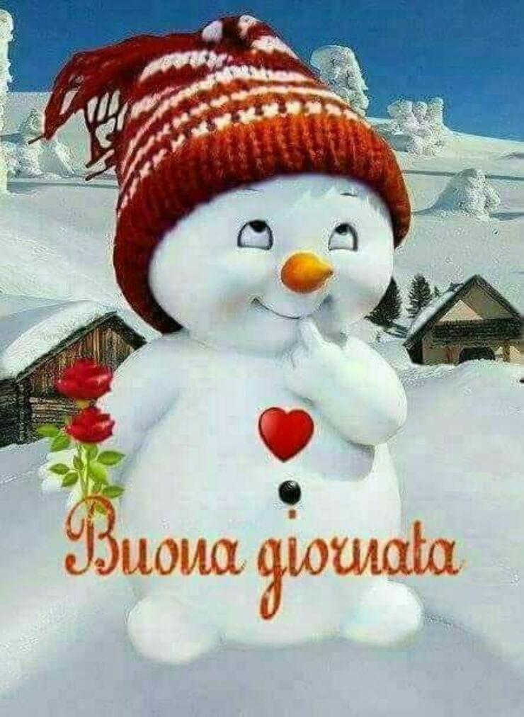 Buona Giornata pupazzo di neve