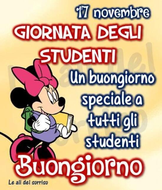 """""""Un Buongiorno speciale a tutti gli studenti. Buona Giornata degli Studenti"""""""