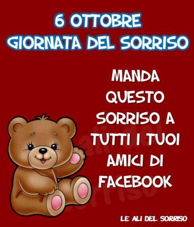 """""""6 Ottobre Giornata del Sorriso. Manda questo sorriso a tutti i tuoi amici Facebook"""""""