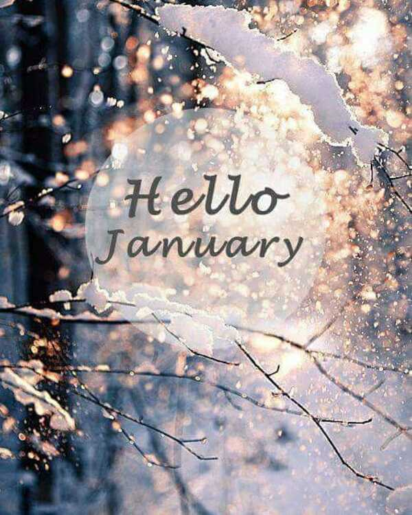 """Hello January"" - Benvenuto Gennaio in inglese"