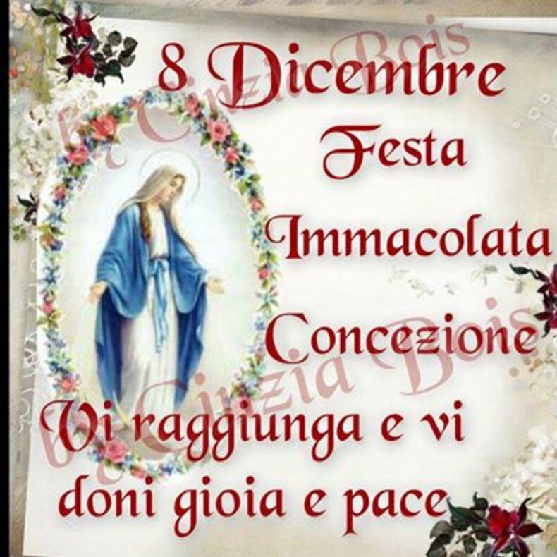 """""""8 Dicembre Festa Immacolata Concezione. Vi raggiunga e vi doni gioia e pace"""""""