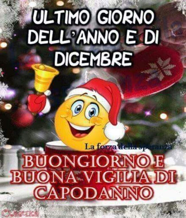 """""""Ultimo giorno dell'anno e di Dicembre. Buongiorno e Buona Vigilia di Capodanno"""""""