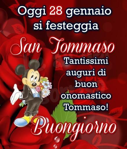 """""""Oggi 28 Gennaio si festeggia San Tommaso. Tantissimi Auguri di Buon Onomastico Tommaso! Buongiorno"""""""