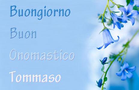 """San Tommaso immagini per Facebook - """"Buongiorno e Buon Onomastico Tommaso"""""""
