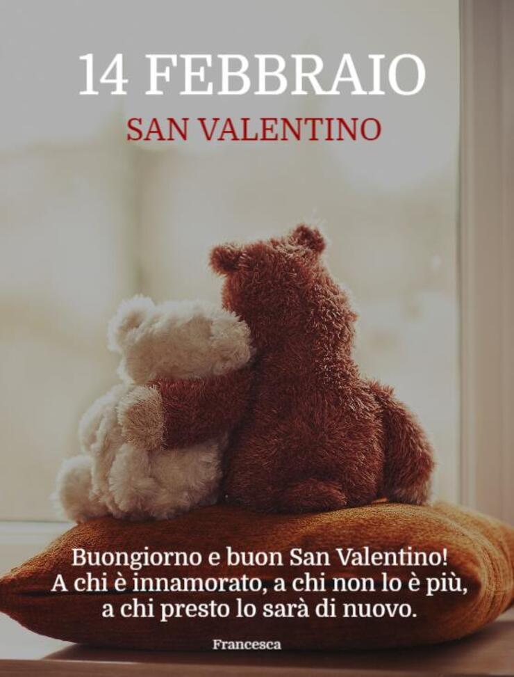 """""""14 Febbraio San Valentino..... A chi è innamorato, a chi non lo è più, a chi presto lo sarà di nuovo!"""""""