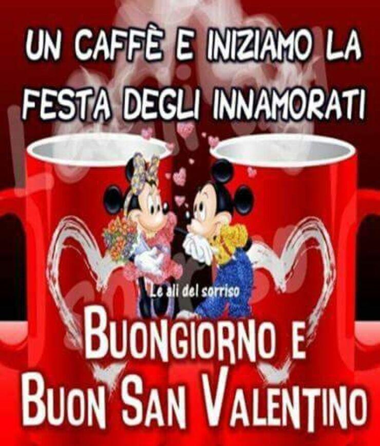 """""""Un caffè e iniziamo la Festa degli Innamorati! Buongiorno e Buon San Valentino!"""""""