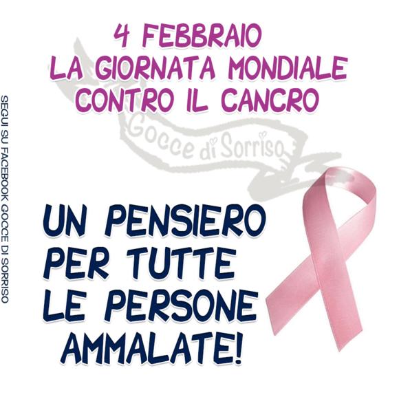 """""""4 Febbraio Giornata Mondiale contro il Cancro. Un pensiero per tutte le persone malate!"""""""